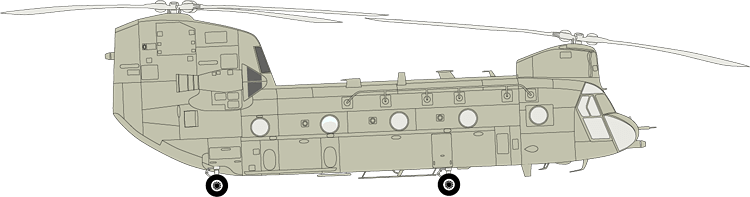 BOEING HELICOPTER WINDSHIELDS AND WINDOWS - CH-47 CHINOOK